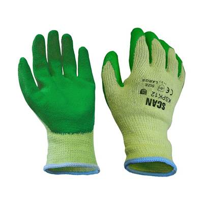 Scan Knitshell Latex Palm Gloves (Green) - Large (Size 9)