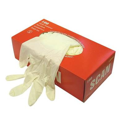 Scan Latex Examination Gloves