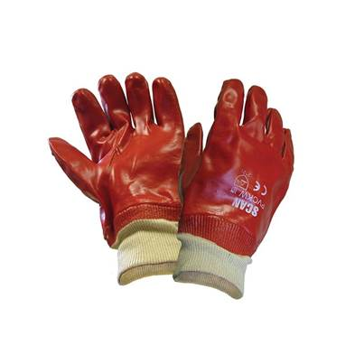 Scan PVC Knitwrist Gloves - Large (Size 9)