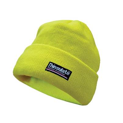 Scan Hi-Vis Yellow Beanie Hat Thinsulate® Lined