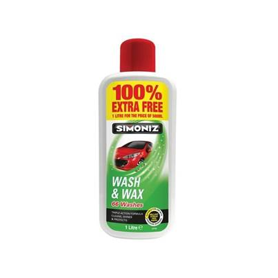 Simoniz SAPP0801B Wash & Wax 500ml + 100% Extra Free
