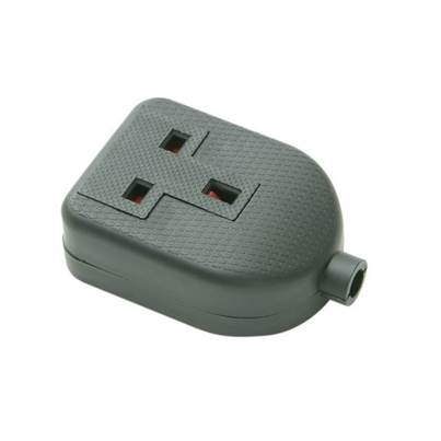 SMJ Black Single Extension Socket 13A