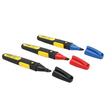 Stanley Tools FatMax® Chisel Tip Marker (Pack of 3)
