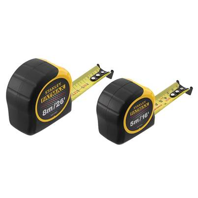 Stanley Tools FatMax® Classic Tape Twin Pack 5m & 8m (Width 32mm)