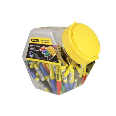 Stanley Tools Mini Fine Tip Marker (Tub of 72)