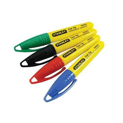Stanley Tools Mini Fine Tip Pen (Card of 4)