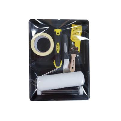 Stanley Tools Roller & 2in Stubby Max Finish Brush Set, 6 Piece