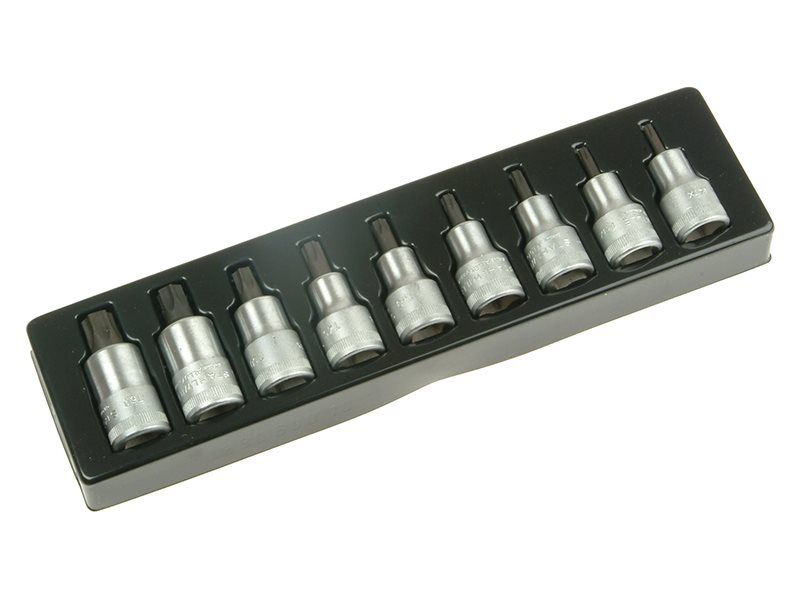 Torx Socket Set of 9 1/2in Drive