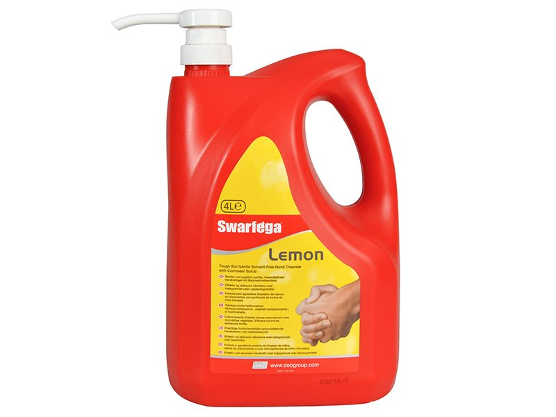 Lemon Hand Cleaner Pump Top Bottle 4 litre