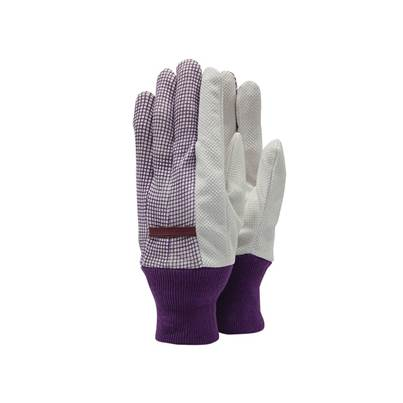 Town & Country TGL201 Polka Dot Cotton Grip Ladies' Gloves - One Size