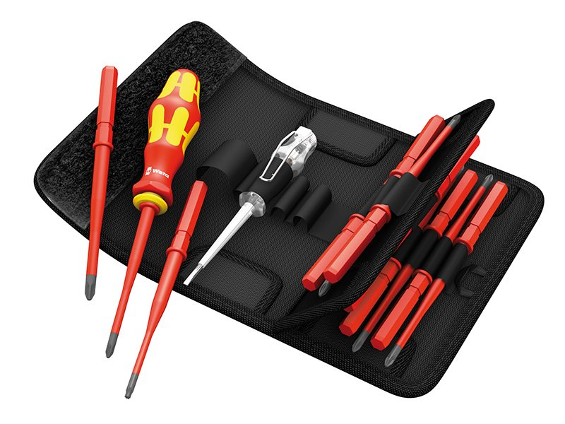 Kraftform VDE Kompakt Slimline Screwdriver Blade Set of 16 SL/PH/PZ/TX