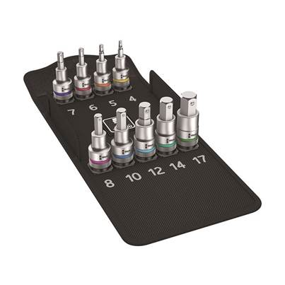 8740 C HF 1 Zyklop In-Hex-Plus Bit-Socket Set of 9 Metric 1/2in Drive