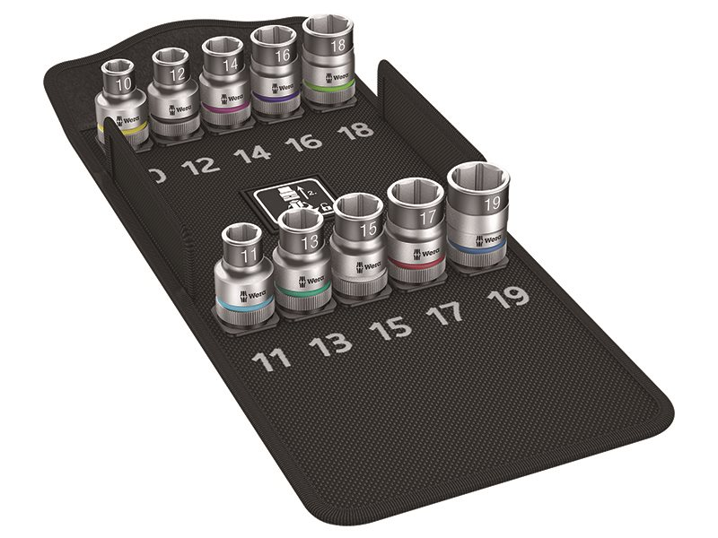 8790 HMC HF/10 Zyklop Screw Hold Socket Set of 9 Metric 1/2in Drive