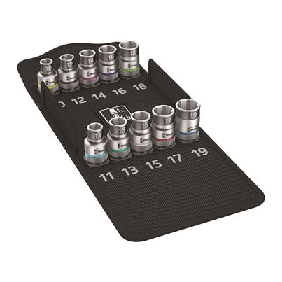 8790 HMC HF 1 Zyklop Holding Function Socket Set of 9 Metric 1/2in Drive