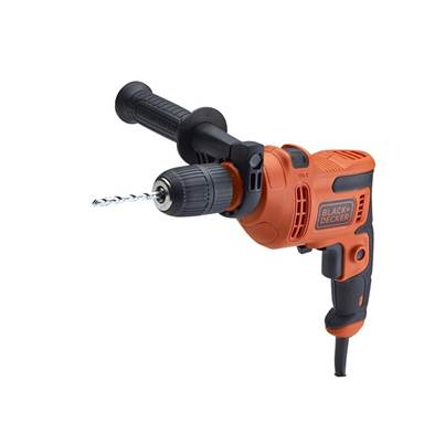 XMS Black & Decker Hammer Drill 500W 240V with Drill Bit Set, 8 Piece