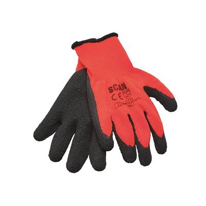 XMS Scan Orange/Black Knitshell Thermal Gloves (Pack 5)