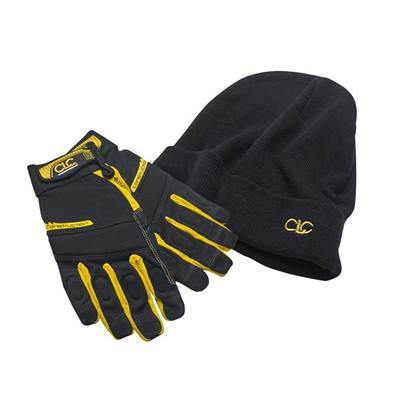 XMS CLC Construction Flexigrip Hi-Dexterity Gloves & Beanie Hat