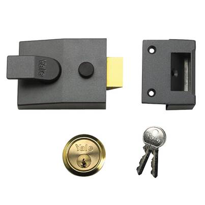 Yale Locks 91 Basic Nightlatch 60mm Backset DMG Finish Box