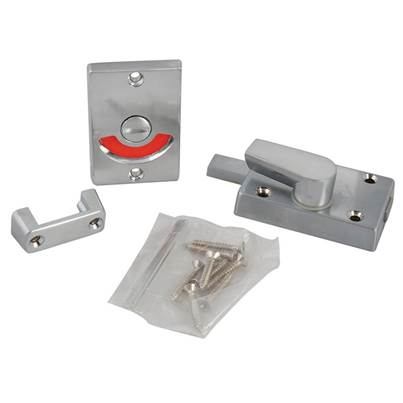 Yale Locks Indicator Bolt for Bathrooms or W.C Doors Satin Chrome P127