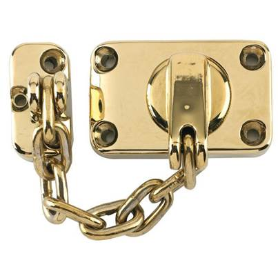 Yale Locks WS16 Combined Door Chain & Bolt Electro Brass Finish