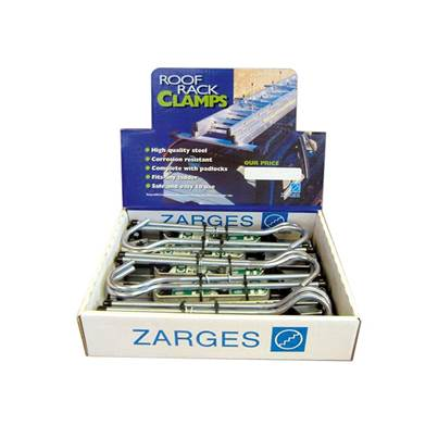 Zarges Roof Rack Clamps Display (5 Pairs)