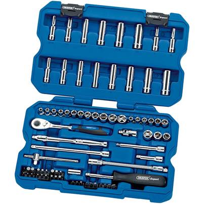 Draper 02350 1/4 Inch Drive Combined Socket Set 75 Piece