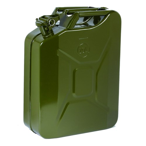 04568 20 Litre Green Steel Fuel Can