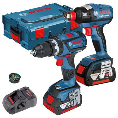 Bosch GSB18V-60C Combi Drill & GDX 18 V-EC Impact  Driver Brushless Twin Pack 2 x 4.0Ah Batteries