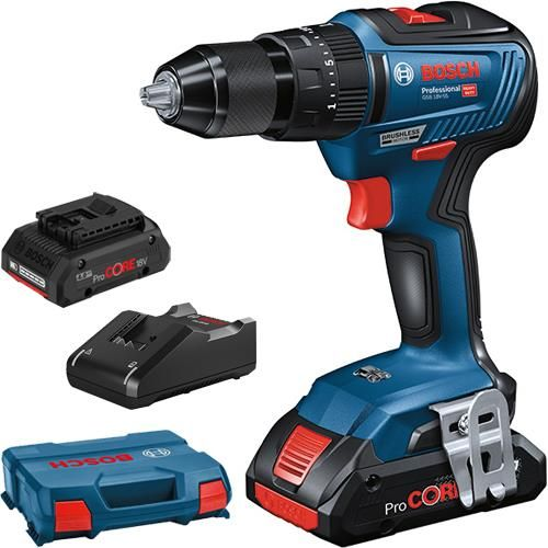 GSB18V-55 18V Brushless Combi Drill with 2x 4.0Ah ProCore Batteries