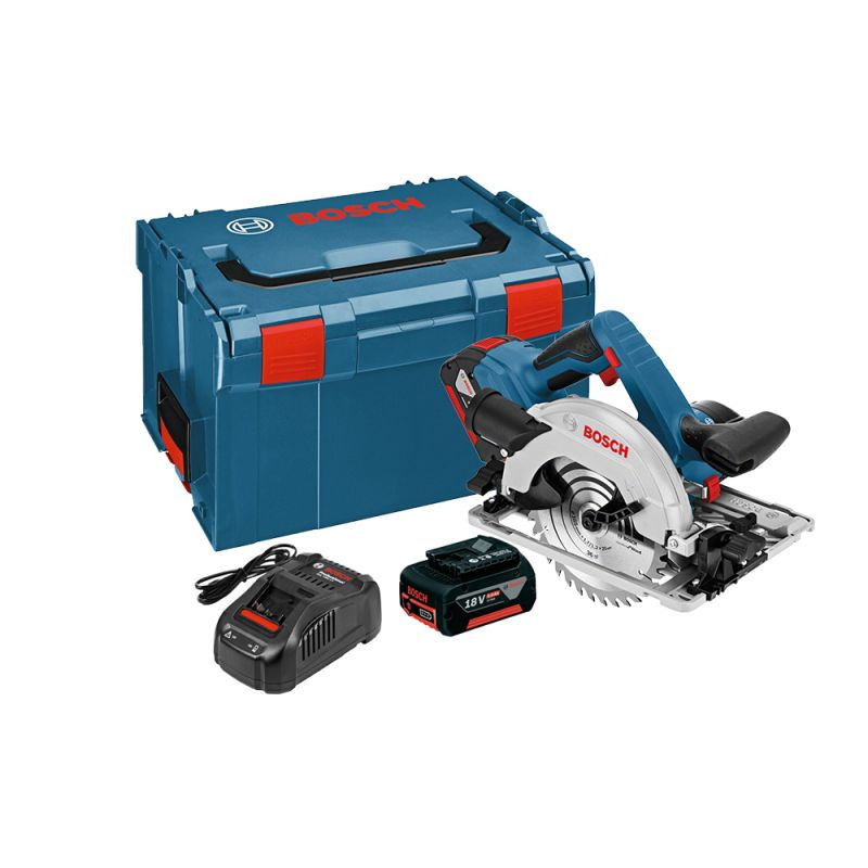 GKS18V-57G Professional 165mm Cordless Circular Saw with 2 x 5.0Ah Batteries + 1 x 4.0Ah ProCORE Battery
