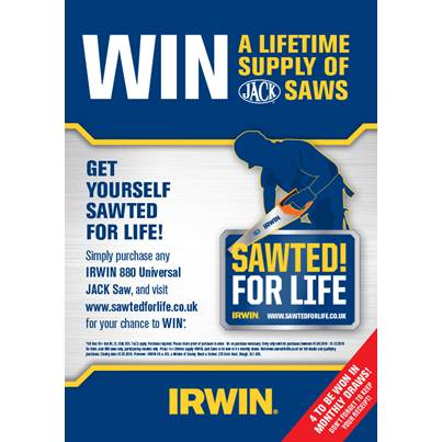 IRWIN Jack Sawted For Life Promo
