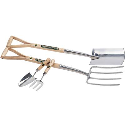 Draper Stainless Steel Fork With Spade Set And Hand Trowel With Hand Fork Set 4 Piece