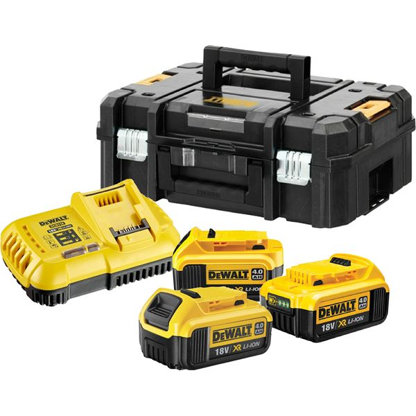 Photo of Dewalt battery kit with charger and case dcb118 & dcb182 x3