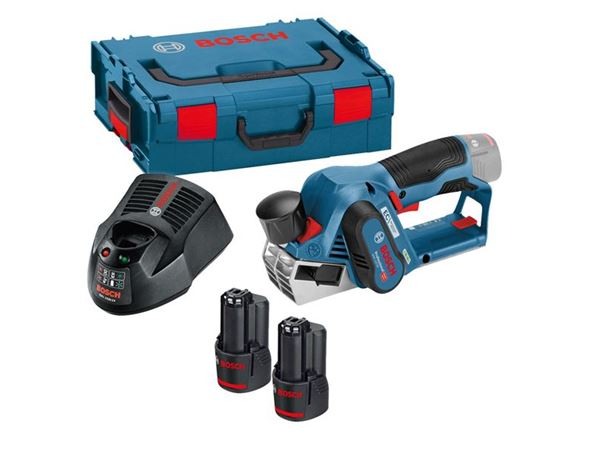 Bosch GHO12 V-20 12v Brushless Planer 2 x 3.0Ah Li-ion BATTERIES L-Boxx Kit