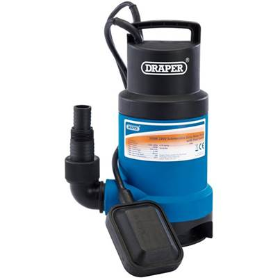 Draper 61621 166L/Min Submersible Dirty Water Pump with Float Switch 550W