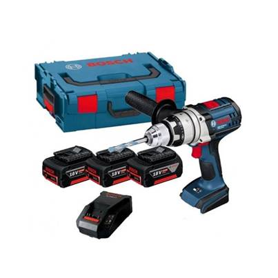 Bosch GSB18VE2LI3 18v Robust Combi Drill in L-Boxx 3 x 5.0ah Li-ion Batts