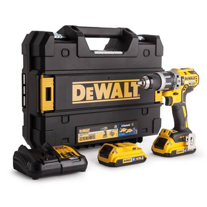 Dewalt DCD796D2B XR Brushless Hammer Drill 18 Volt 2 x 2.0Ah Bluetooth Li-Ion
