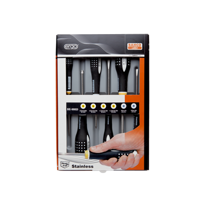 Bahco ERGO 6 Pcs Stainless Steel Screwdriver Set