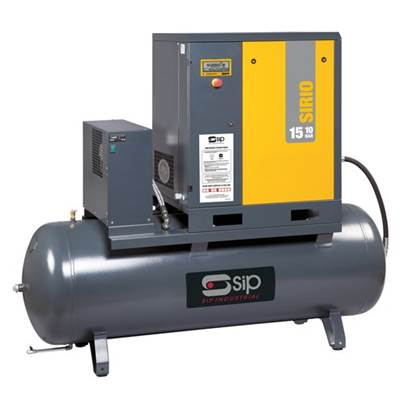 SIP 06412 Sirio 11-08-270ES Screw Compressor w/ Dryer