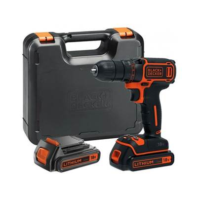 Black & Decker BDCDC18KB Drill Driver 18V 2 x 1.5Ah Li-ion Kit Box