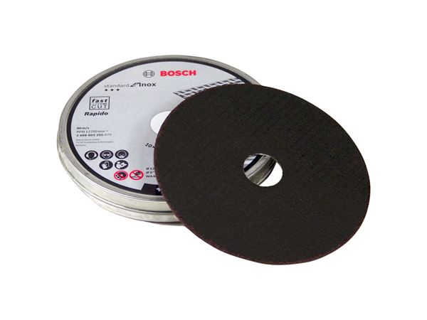 BOSCH INOX Metal Cutting Discs 125mm x 1mm x 22.23mm Pack of 10