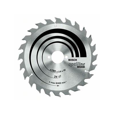 Bosch circular saw blades bosch optiline wood circular saw blade 190mm x 2016 x 26 mm greentooth Choice Image