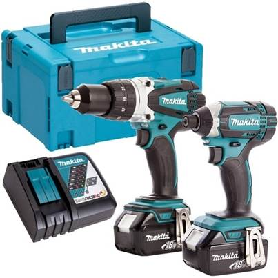 Makita DLX2145TJ 18V  Li-ion Hammer Drill And Impact Driver 2 x 5.0Ah