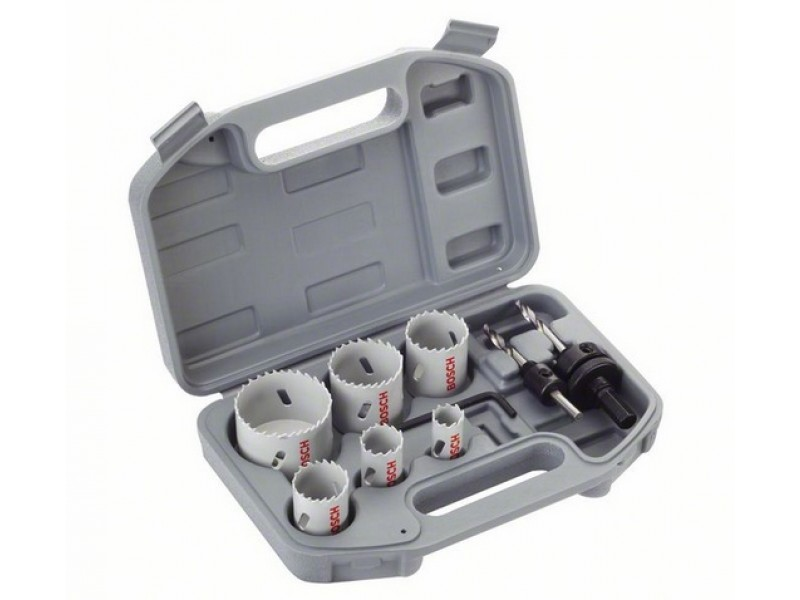 9-piece electrician holesaw set, bi-metal