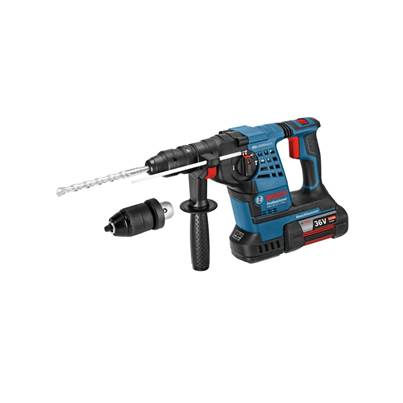 Bosch GBH36VFLI Plus 36V Cordless li-ion SDS Plus Rotary Hammer Drill (2 x 6Ah Batteries) with Quick Change Chuck