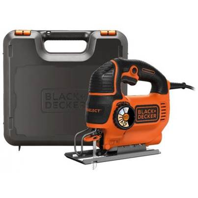 Black & Decker KS801SEK 550W AUTOSELECT pendulum jigsaw with blade and kitbox
