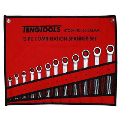 Teng 6512RSMM 12 Piece Ratcheting Spanner Set