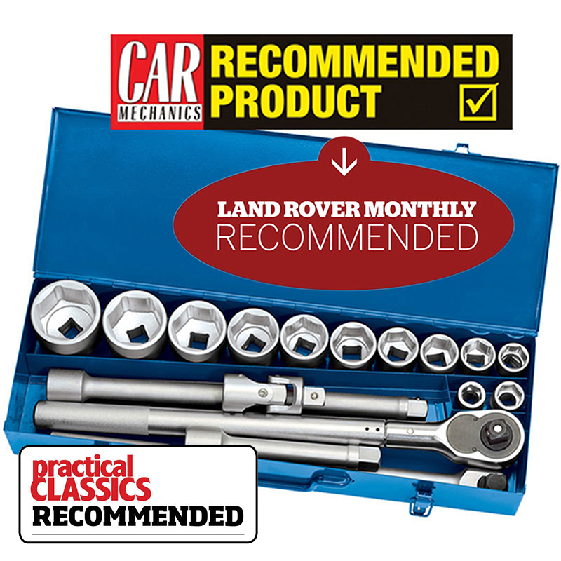 02578 3/4 Inch Metric Socket Set with Extendable Ratchet 17 Piece