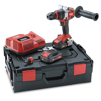 FLEX Flex PD2G 18.0-EC 2.5 Set 18v Cordless Percussion Drill With 2 x 2.5Ah Batteries