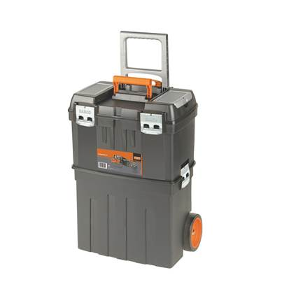 Bahco Plastic Tool Box On Wheels (tools not included)